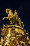 A monument to the Russian Emperor Nicholas I Stock Photos