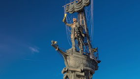 Monument to Russian emperor Peter the Great stock footage