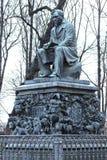 Monument to Russian fabulist Ivan Krylov Stock Photos