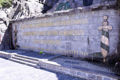 Monument to the Russian General Suvorov at Andermatt Stock Images