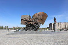 Monument to Russian heroes and soldiers who died in World War I Stock Images
