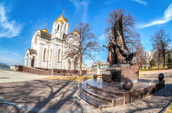 Monument to the russian orthodox saints Peter and Fevronia of Mu Royalty Free Stock Images