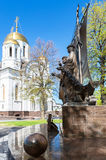 Monument to the russian orthodox saints Peter and Fevronia of Mu Stock Images