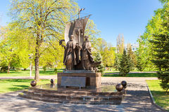 Monument to the russian orthodox saints Peter and Fevronia of Mu Royalty Free Stock Photos