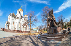Monument to the russian orthodox saints Peter and Fevronia Royalty Free Stock Photo
