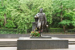 A monument to Russian poet and writer Alexander Pushkin Stock Image