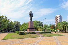 The monument to Russian revolutionary leader Vladimir Ulyanov-Le Royalty Free Stock Image