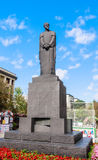 Monument to Russian scientist, naturalist Kliment Arkadievich Timiryazev.  Moscow Stock Photos