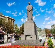 Monument to Russian scientist, naturalist Timiryazev at Tver Boulevard. Moscow. Monument to Russian scientist, naturalist Kliment Arkadievich Timiryazev at Tver Stock Image