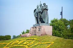 A monument to Russian soldiers Royalty Free Stock Photography