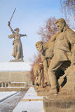 Monument to Russian soldiers in Volgograd Stock Photo