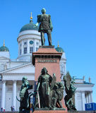 Monument to the Russian Tsar Alexander II Royalty Free Stock Images