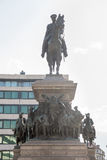 Monument to the Russian tsar in the center of the Bulgarian capital Royalty Free Stock Photos