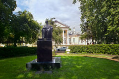 Monument to Russian writer Lev Tolstoy in Moscow Royalty Free Stock Image