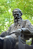Monument to Russian writer Lev Tolstoy in Moscow Stock Photos