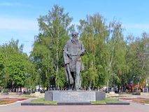 Monument to the russian writer Lev Tolstoy in Tula Stock Photo