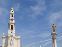 Monument to the Sacred Heart of Jesus in Fatima Stock Images