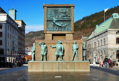 Monument to the sailors in Bergen Stock Photography