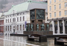 Monument to the sailors. In the center of Bergen. Norvel Stock Photography