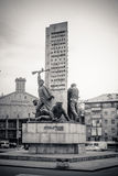 Monument to the sailors in Kiev. Black and white Royalty Free Stock Photos