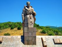 Monument to the `Sailors of the Revolution`, installed on the banks of the Tsemess Bay in 1980. Novorossiysk royalty free stock photography
