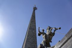 Monument To Saint George Slaying A Dragon On Poklonnaya Hill In Victory Park, Moscow, Russia Stock Photography