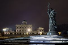 Monument to Saint  Prince Vladimir Royalty Free Stock Images