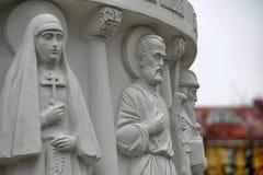 Monument to Saint Princess Olga, details Stock Photos