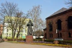 Monument to Saint Wojciechow in front of Kosciol NMP Krolowej Polski in Gniezno Royalty Free Stock Photo