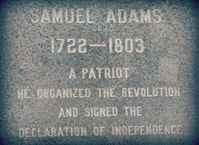 Monument to Samuel Adams Royalty Free Stock Photo