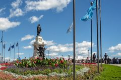 Monument to Samuel de Champlain Stock Photo