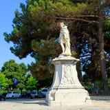 Monument to Schulenburg, Corfu city Stock Image