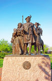 Monument to Scottish Immigrants at Penns Landing of Philadelphia royalty free stock photos