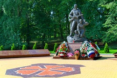 Monument to the scouts. KALININGRAD, RUSSIA - AUGUST 16, 2013: In Kaliningrad on July 13, 2013 at Victory Park, a monument to the scouts who died during the Stock Photo