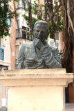 The monument to the sculptor Manuel Robles. Cartagena. Spain Royalty Free Stock Photo