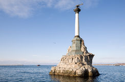 Monument to scuttled Russian ships Stock Image