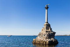 Monument to scuttled Russian ships.Sevastopol, Crimea, Russia Stock Photos