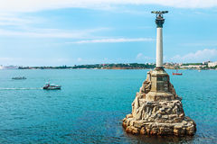 Monument to scuttled Russian ships to obstruct entrance to Sevas Stock Photo