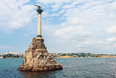 Monument to scuttled Russian ships to obstruct entrance to Sevas Stock Photography