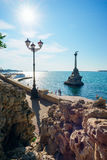 Monument to the scuttled ships on a bright Sunny day. Royalty Free Stock Photos