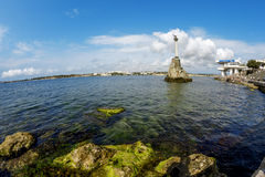 The monument to the scuttled ships in the port of Sevastopol. Royalty Free Stock Images