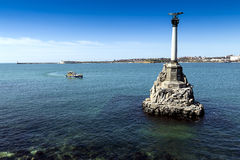 Monument to the scuttled ships in Sevastopol Stock Photography
