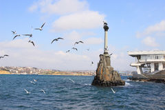 Monument to the Scuttled Ships in Sevastopol city (Crimea) Stock Image