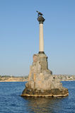 Monument to the scuttled ships in Sevastopol. Crimea. Royalty Free Stock Photography