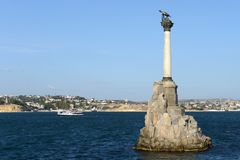 Monument to the scuttled ships in Sevastopol Royalty Free Stock Photos