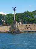 Monument to scuttled ships in Sevastopol Stock Photos