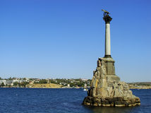 Monument to the Scuttled ships at Sevastopol waterfront, Crimea Royalty Free Stock Photo