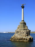 Monument to the Scuttled ships at Sevastopol waterfront, Crimea Stock Photo