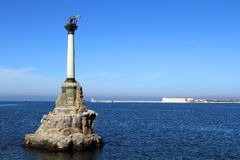 Monument to scuttled ships. Symbol of Sevastopol Crimea Royalty Free Stock Images