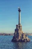Monument to scuttled ships. Symbol of Sevastopol Crimea Stock Photo